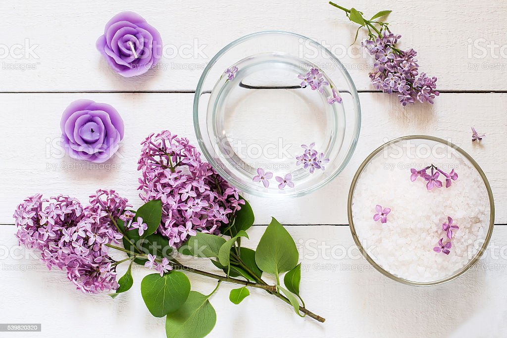 Flower SPA concept stock photo