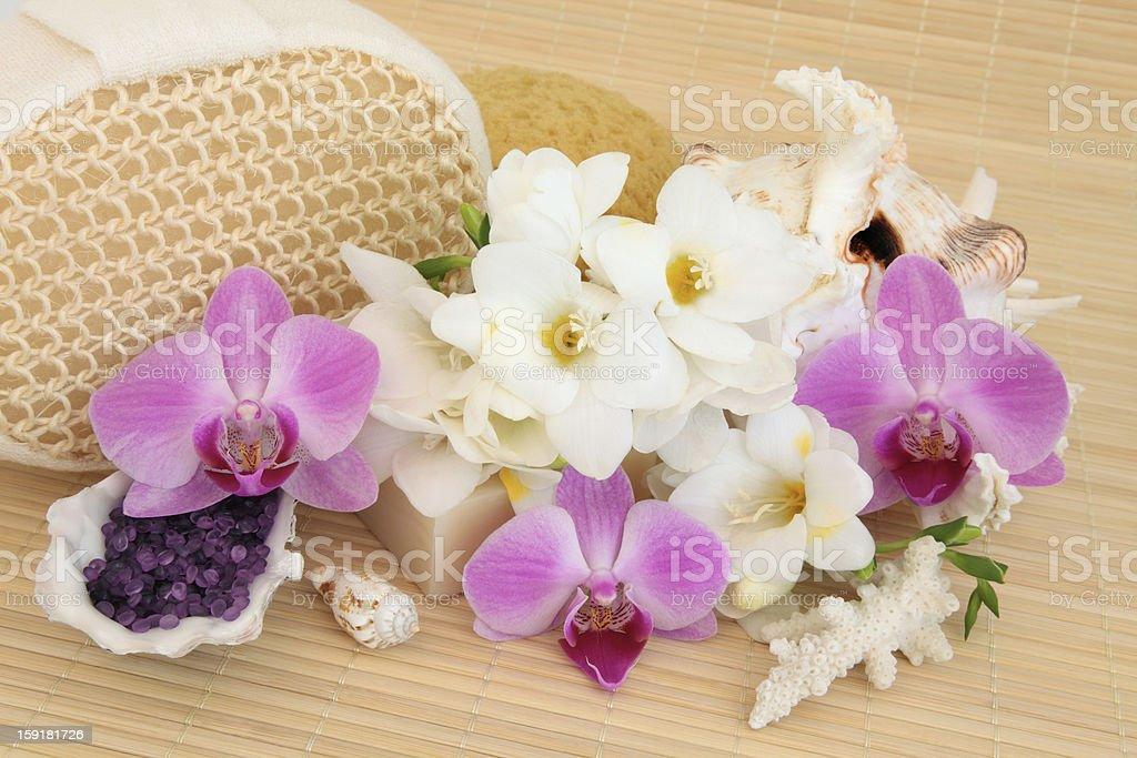 Flower Spa Treatment royalty-free stock photo