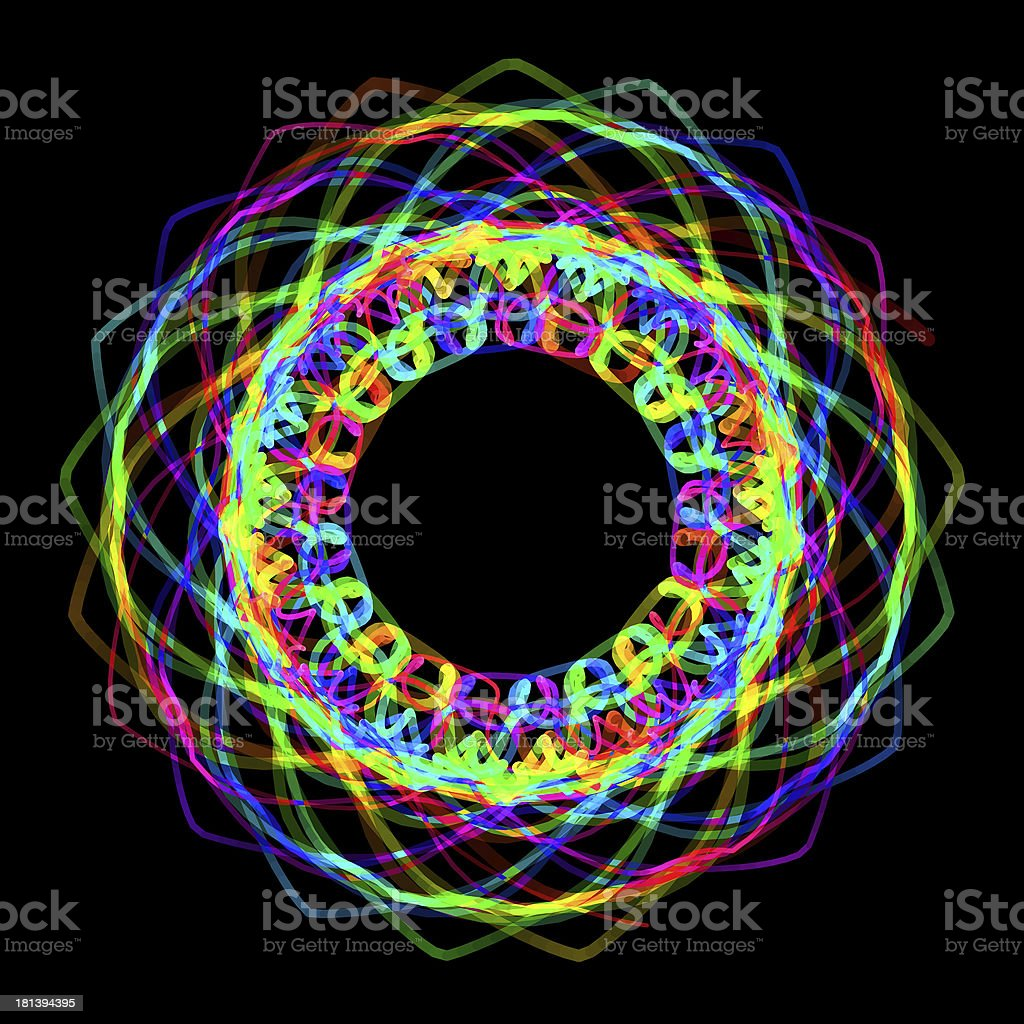 Flower spirograph pendulum photo stock photo