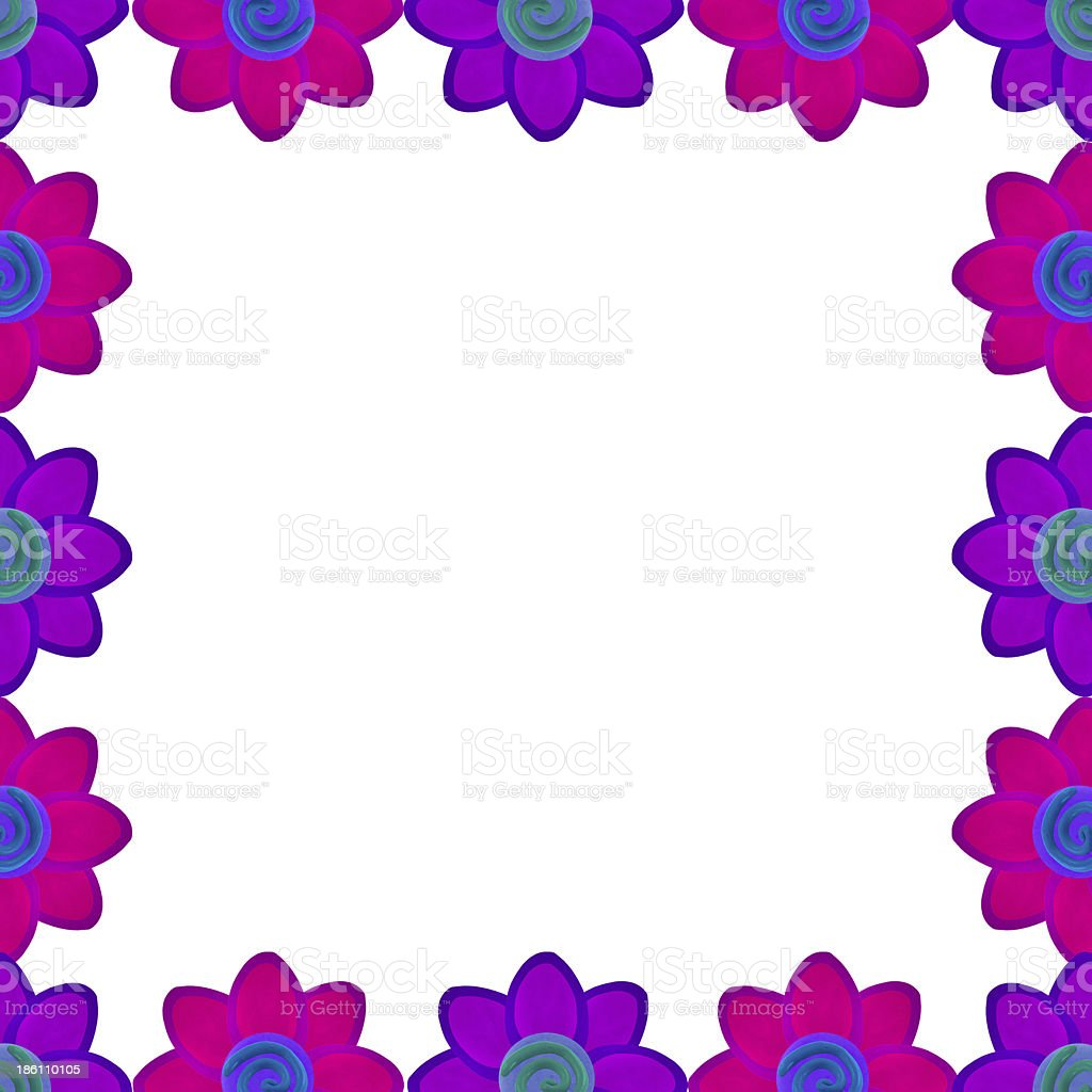 Flower square made from clay royalty-free stock photo