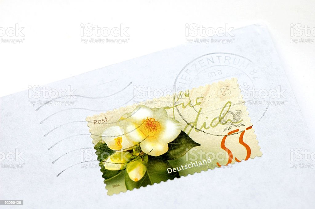 Flower Stamp royalty-free stock photo