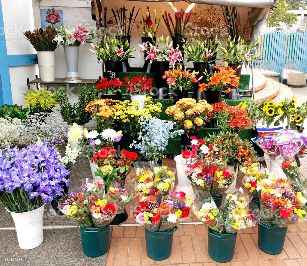 Flower Stand royalty-free stock photo