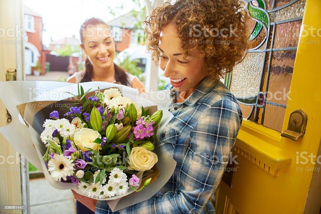 flower surprise stock photo