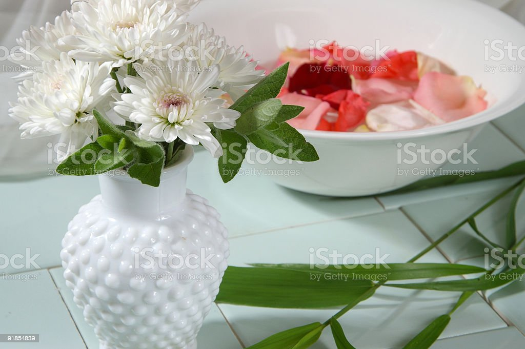 Flower Therapy Horizontal stock photo