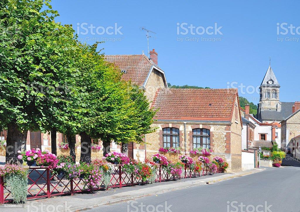 Flower Village,Champagne region,France stock photo
