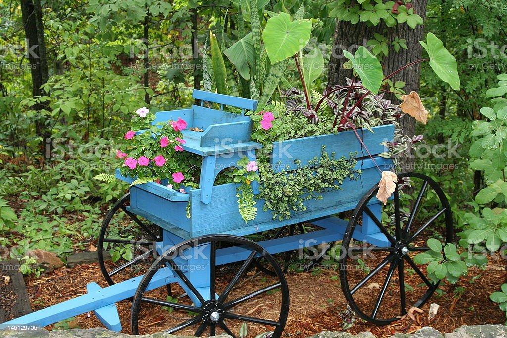 flower wagon stock photo