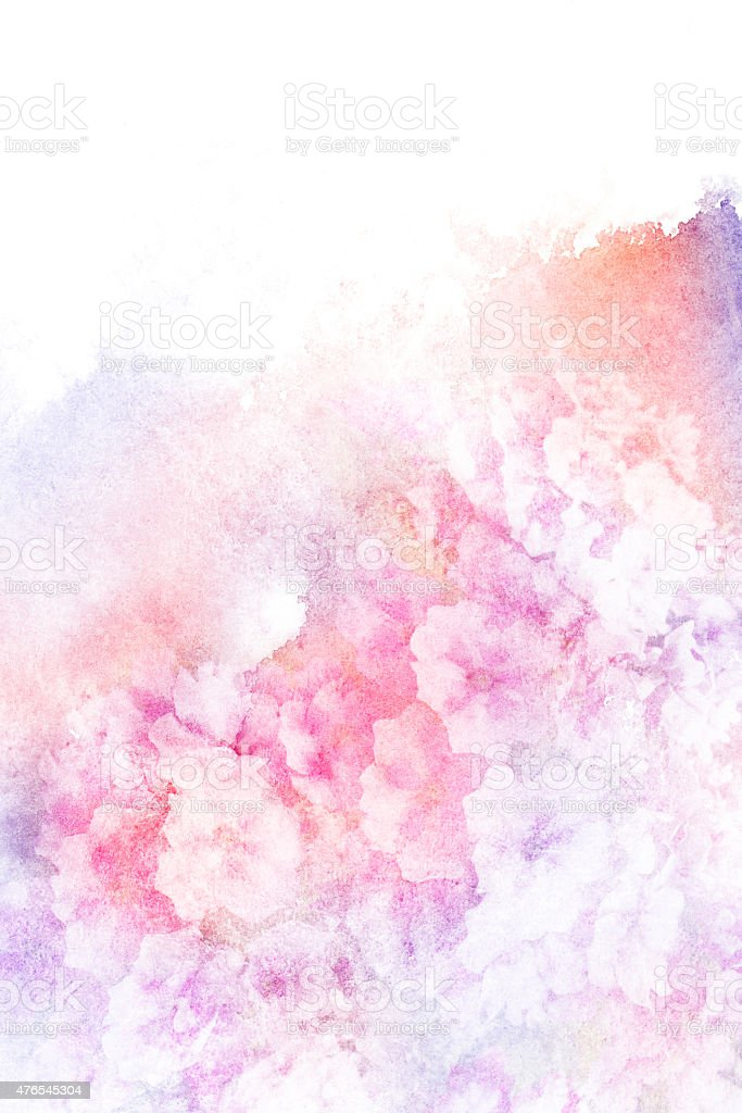 Flower watercolor illustration. vector art illustration