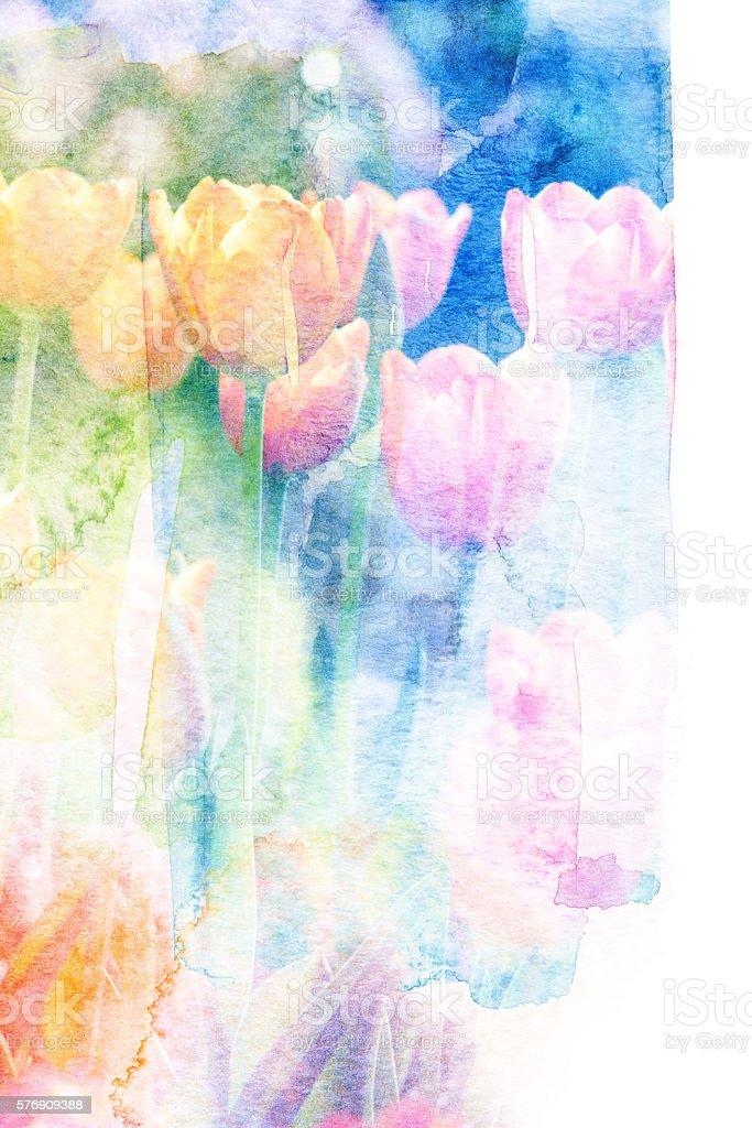 Flower watercolor illustration. stock photo