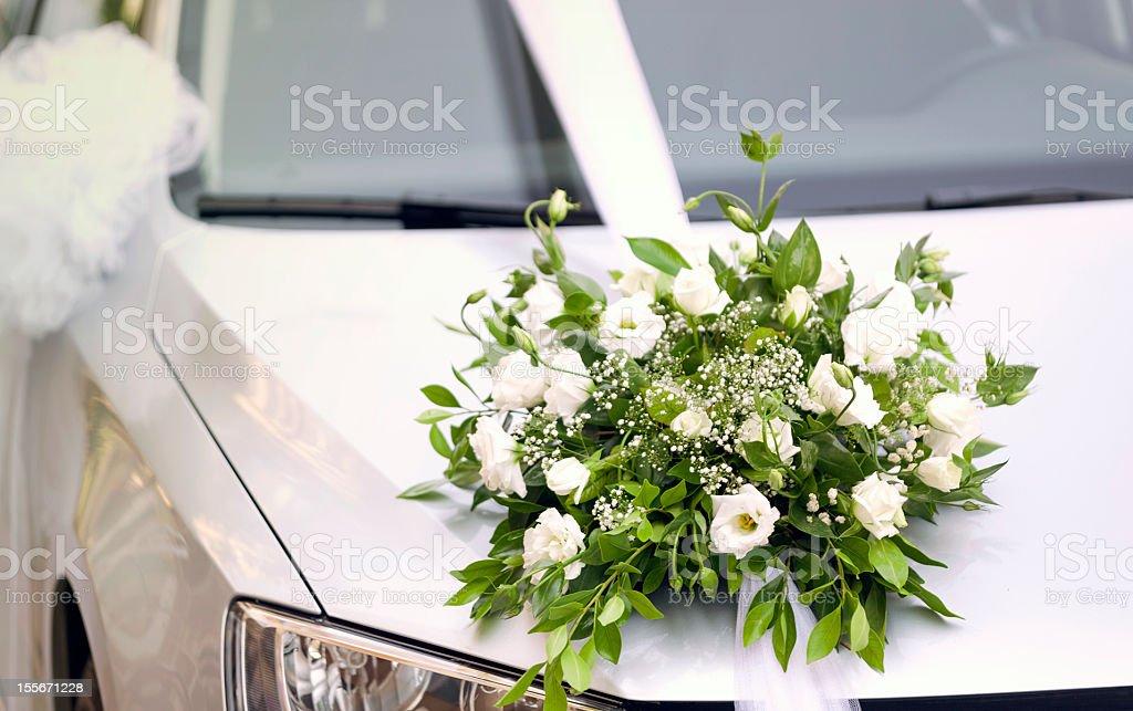 flower wedding car royalty-free stock photo