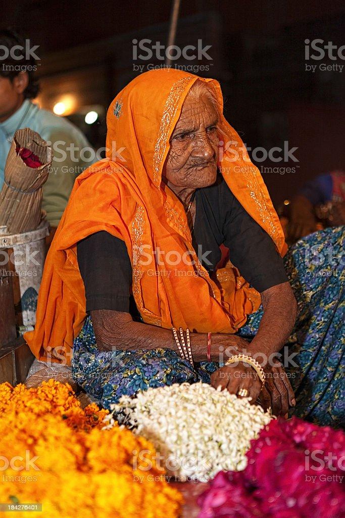 Flower Woman royalty-free stock photo