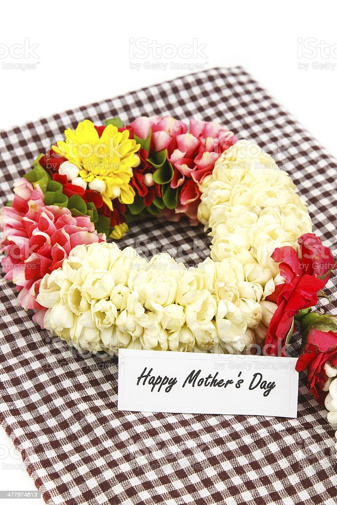 Flower wreath  for mother on Mother's Day royalty-free stock photo