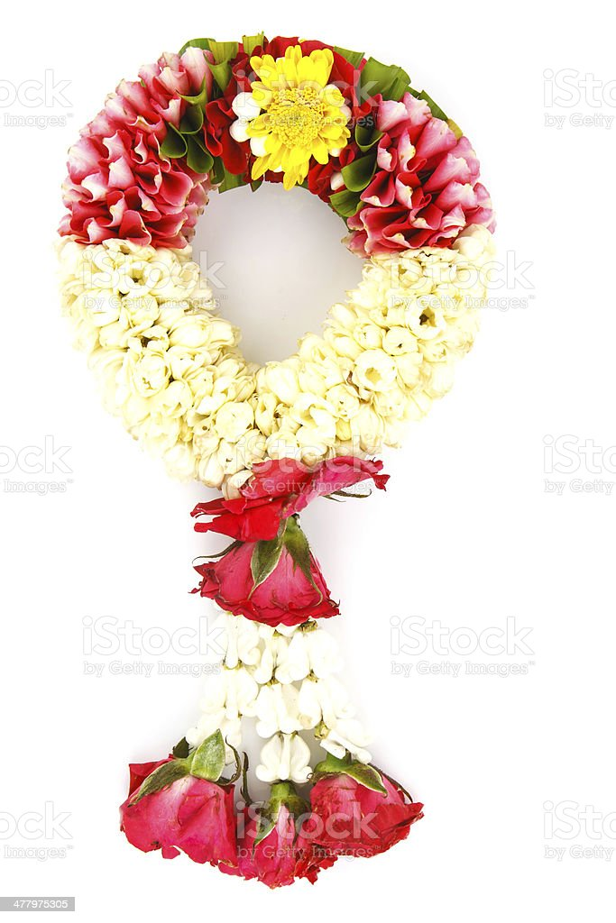 Flower wreath  for mother on white background royalty-free stock photo