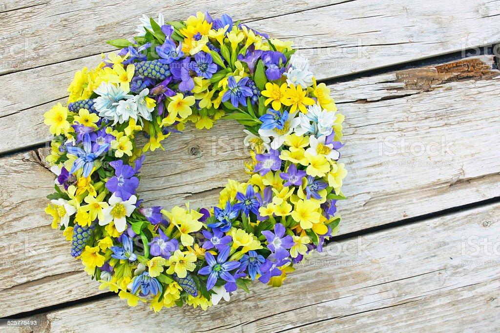Couronne de fleurs photo libre de droits