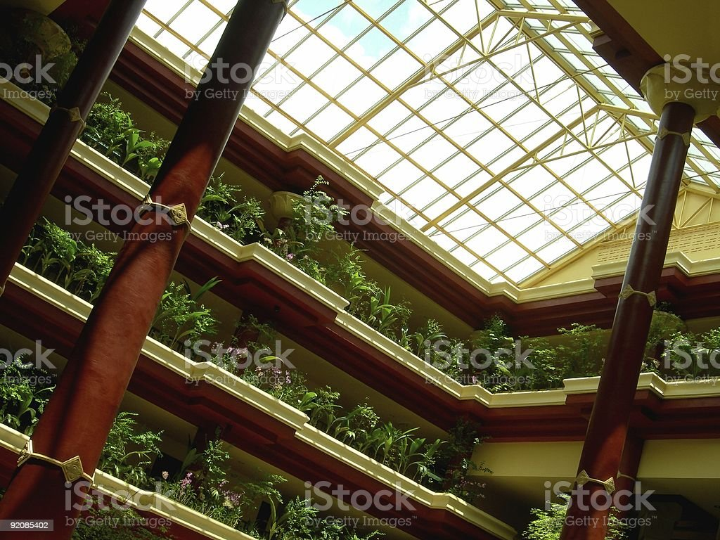 Flowered Roof stock photo