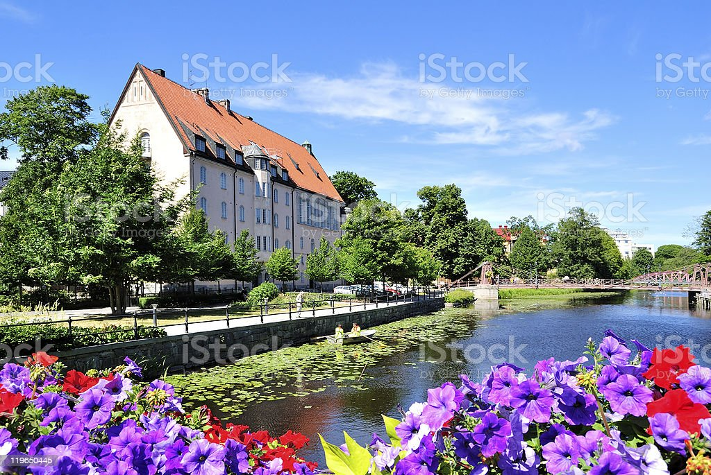 Flowering Uppsala. Sweden stock photo