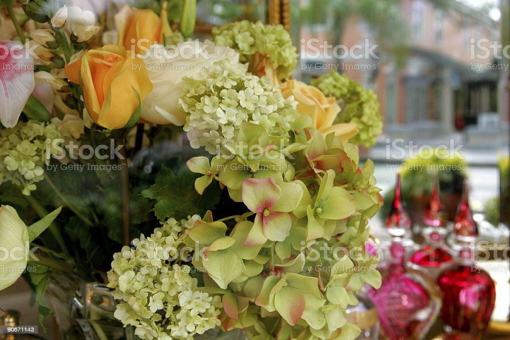 Flowers & Perfume for Sale stock photo
