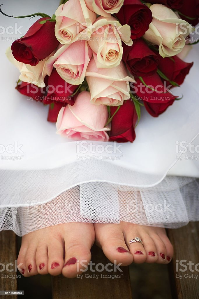 Flowers and Feet stock photo