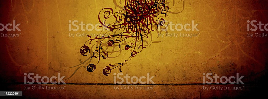 Flowers and Ivy 1 - Cave Drawings Series royalty-free stock photo