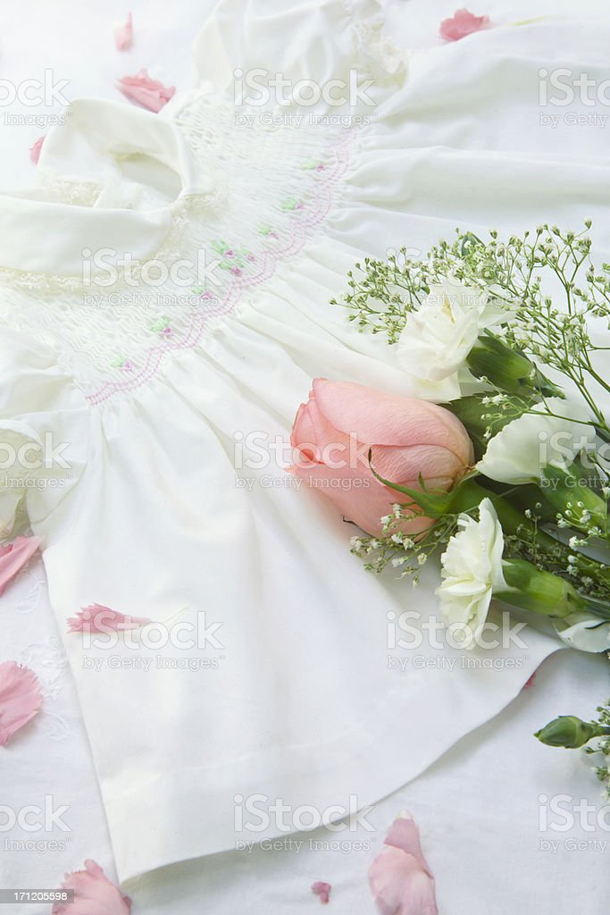 flowers and lace royalty-free stock photo