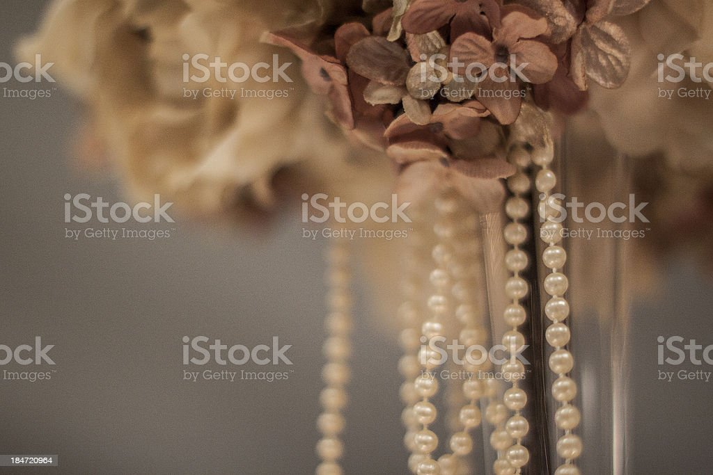 Flowers and Pearls royalty-free stock photo