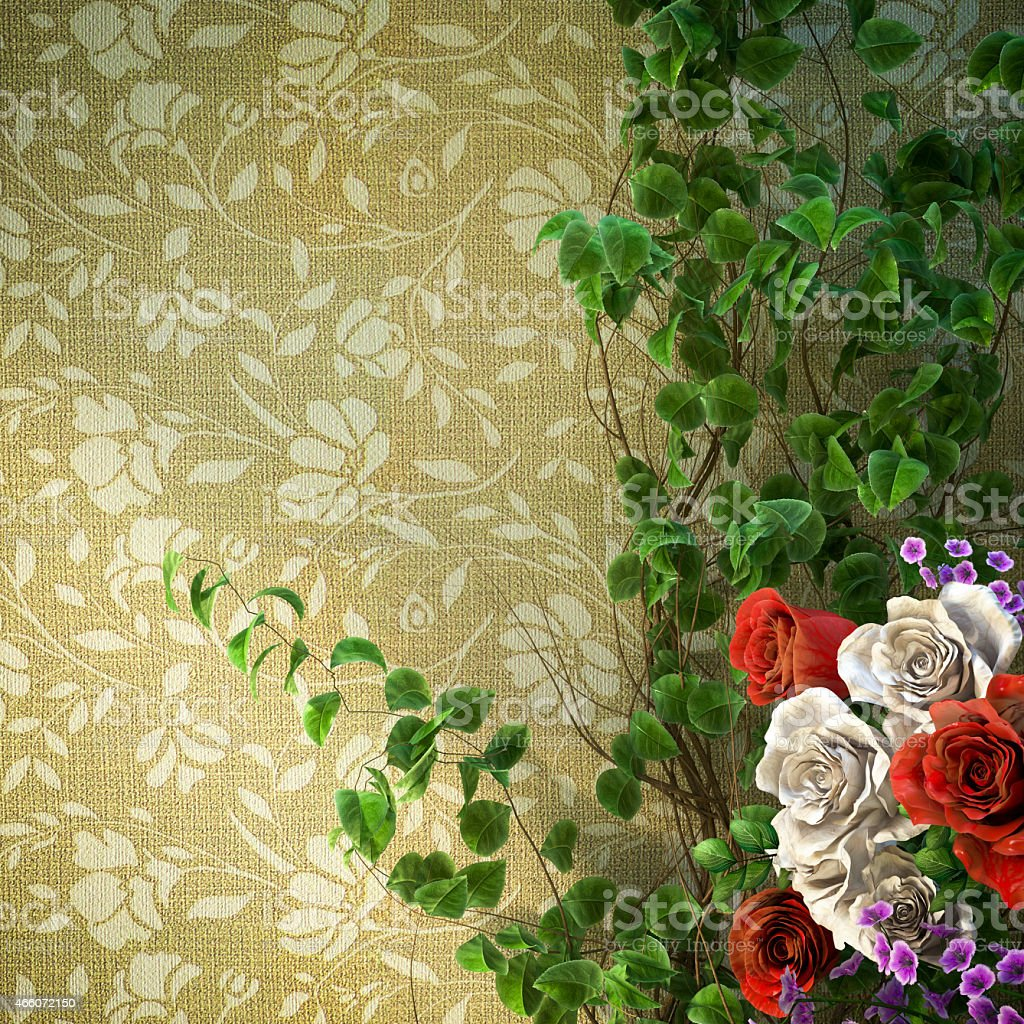 flowers and plants holiday concept background stock photo