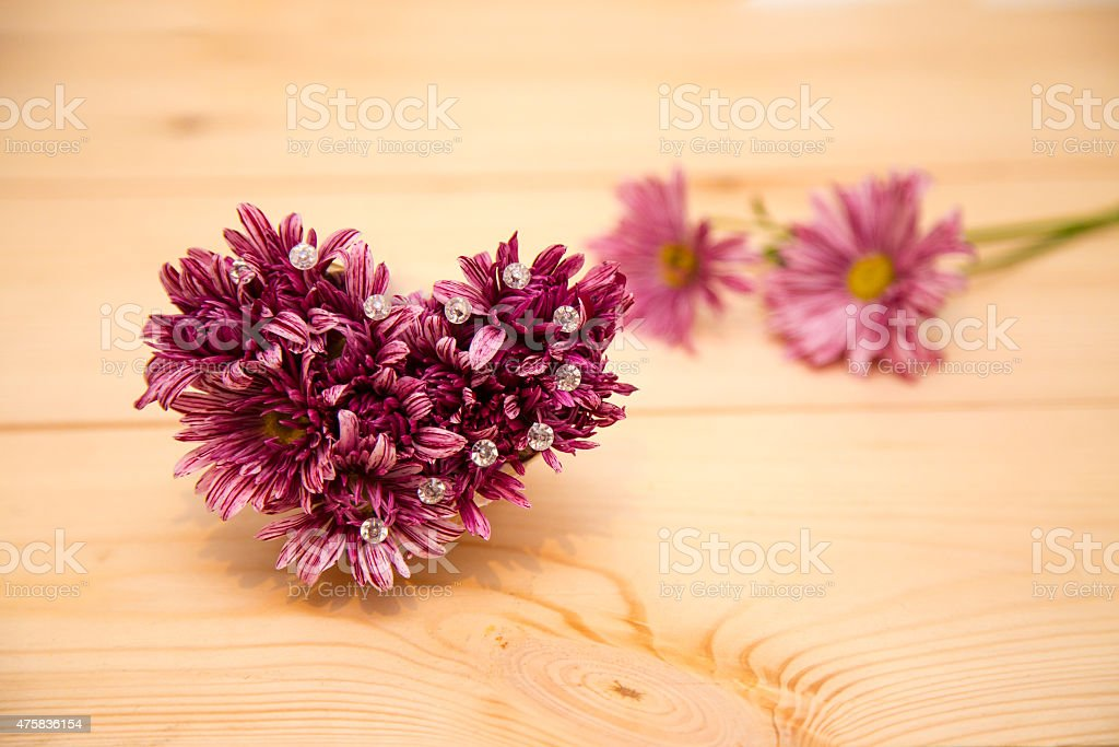 flowers arrangement with crystals stock photo