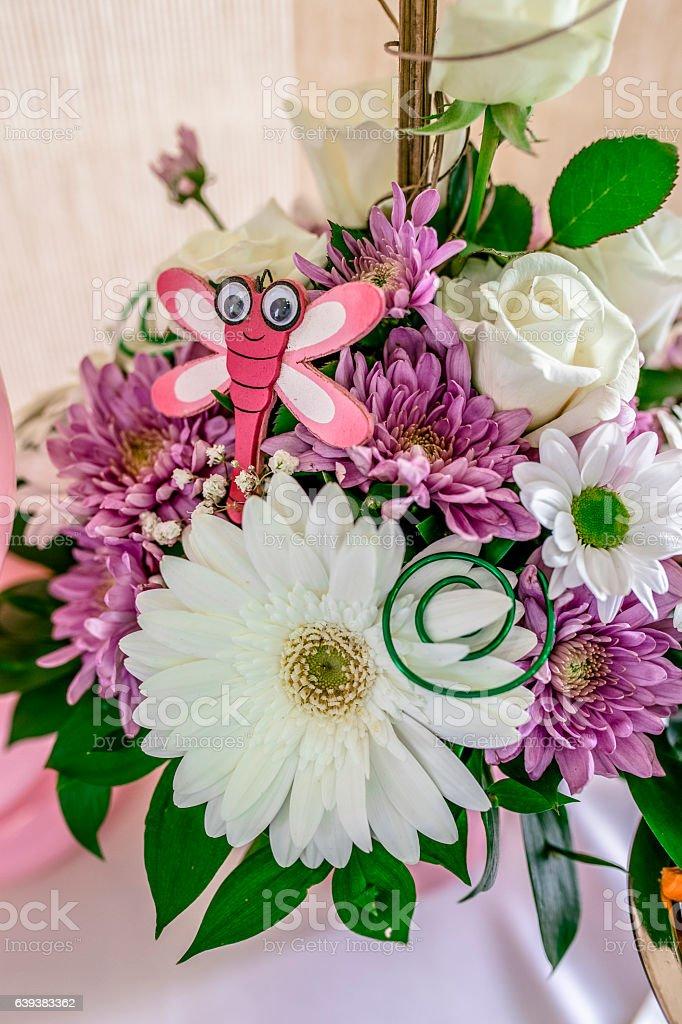 flowers bouquet arrange for decoration stock photo
