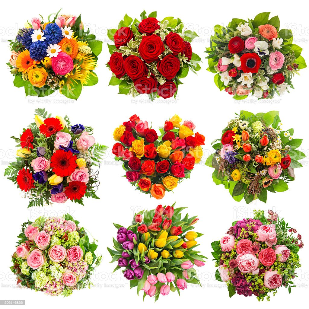 Flowers bouquet Holidays Birthday, Wedding, Valentines stock photo