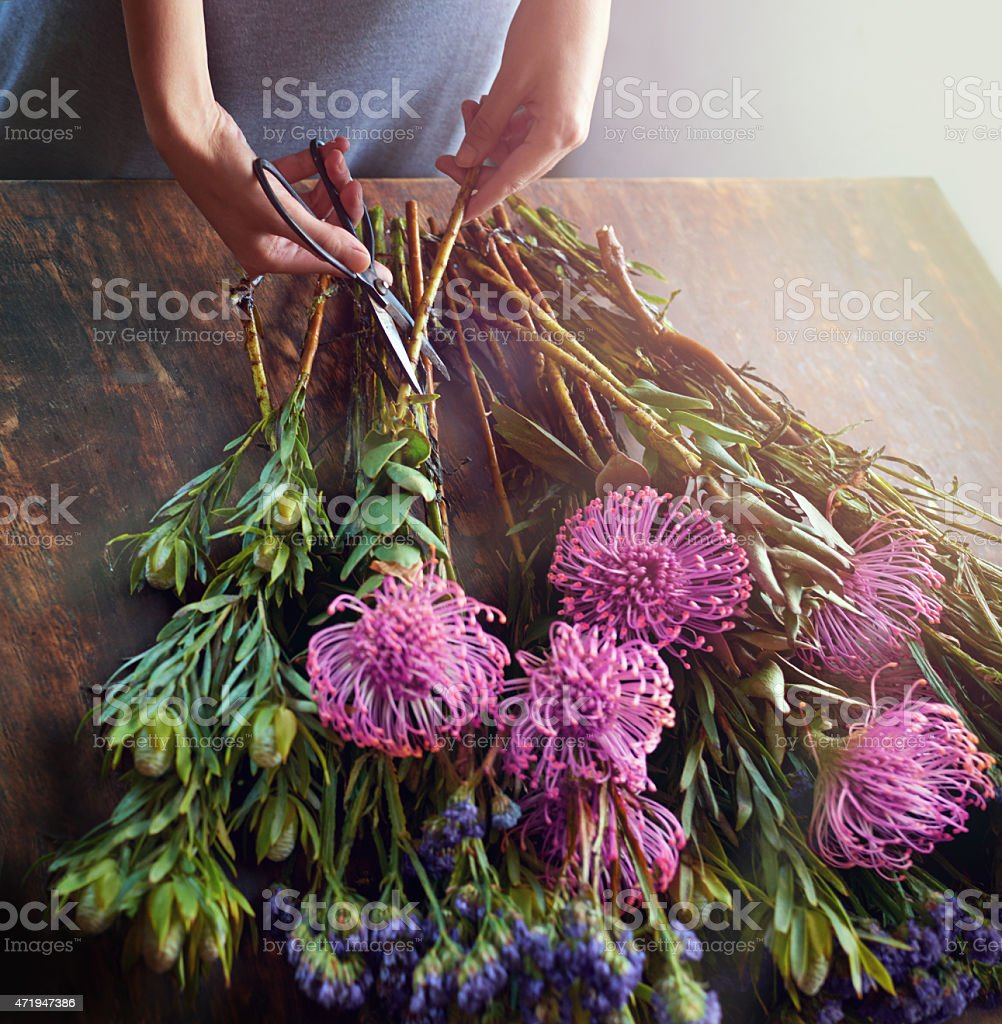 Flowers brighten up the world stock photo