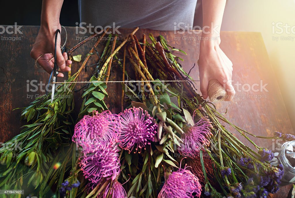 Flowers bring color to your life stock photo