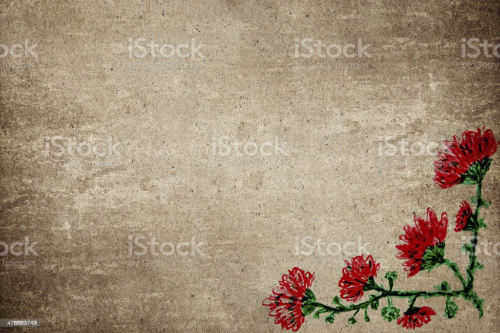 flowers drawing royalty-free stock photo