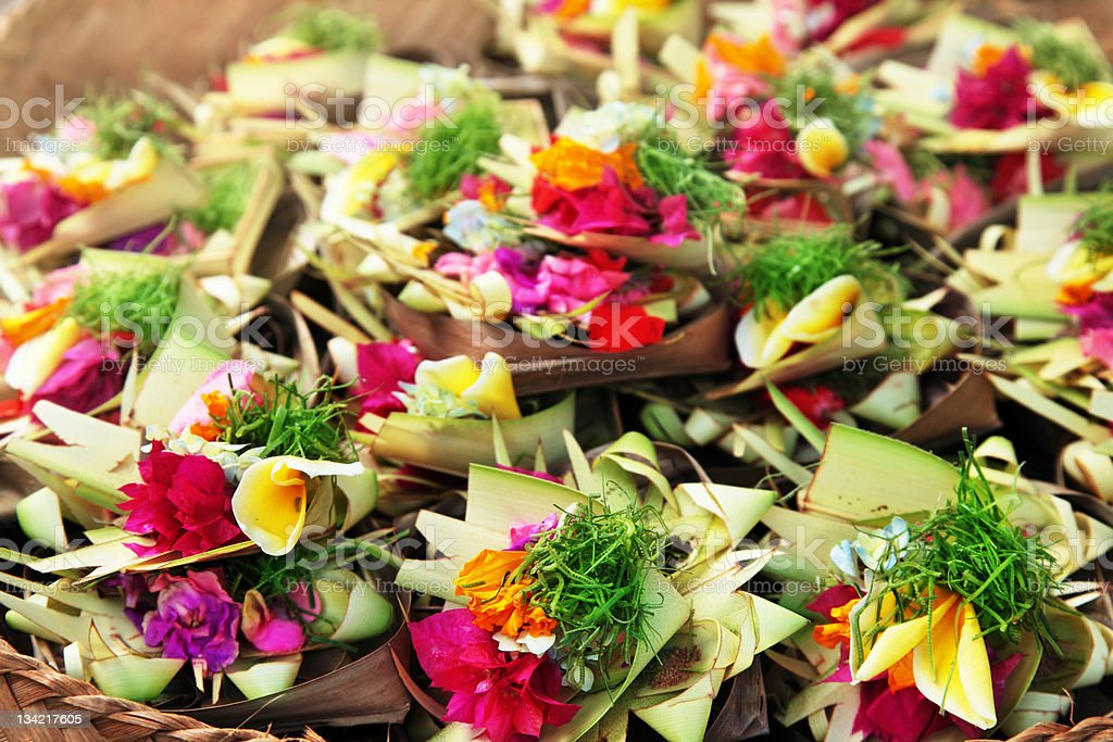 Flowers for Hindu ceremony royalty-free stock photo