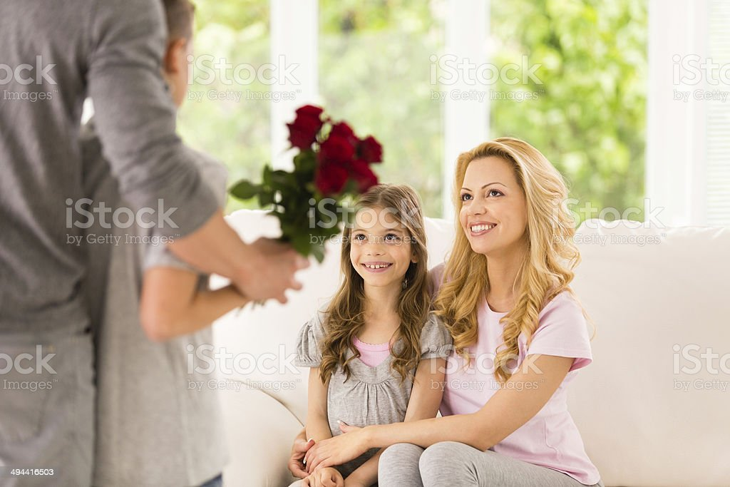 Flowers for mother and daughter royalty-free stock photo