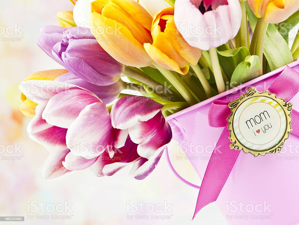 Flowers for Mother's Day or Birthday royalty-free stock photo