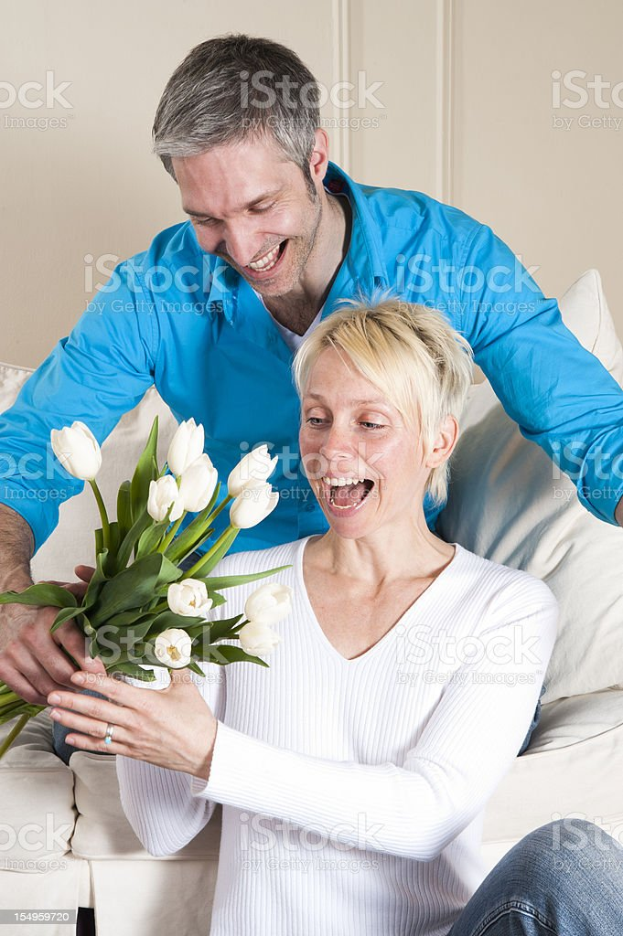 Flowers for my sweetheart! royalty-free stock photo