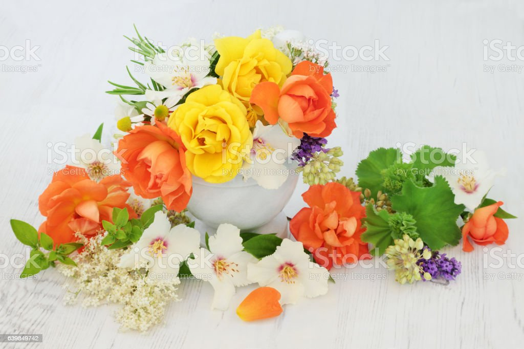 Flowers for Natural Herbal Medicine stock photo