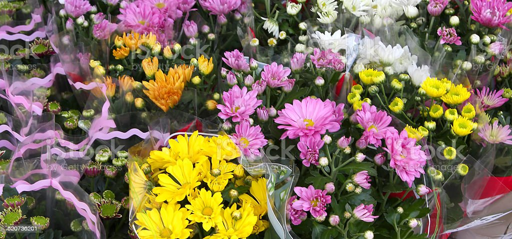 flowers for sale by wholesale florist stock photo