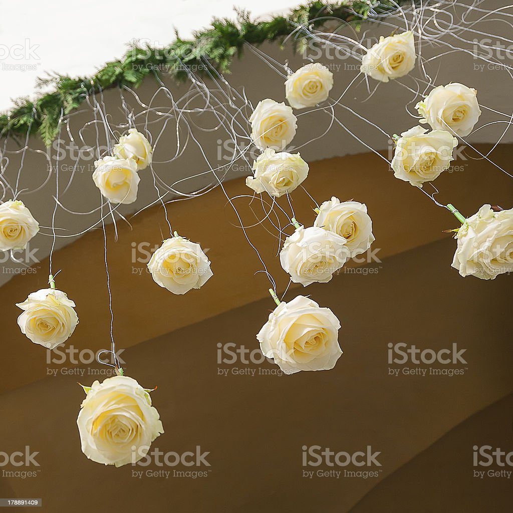 flowers for wedding ceremony royalty-free stock photo