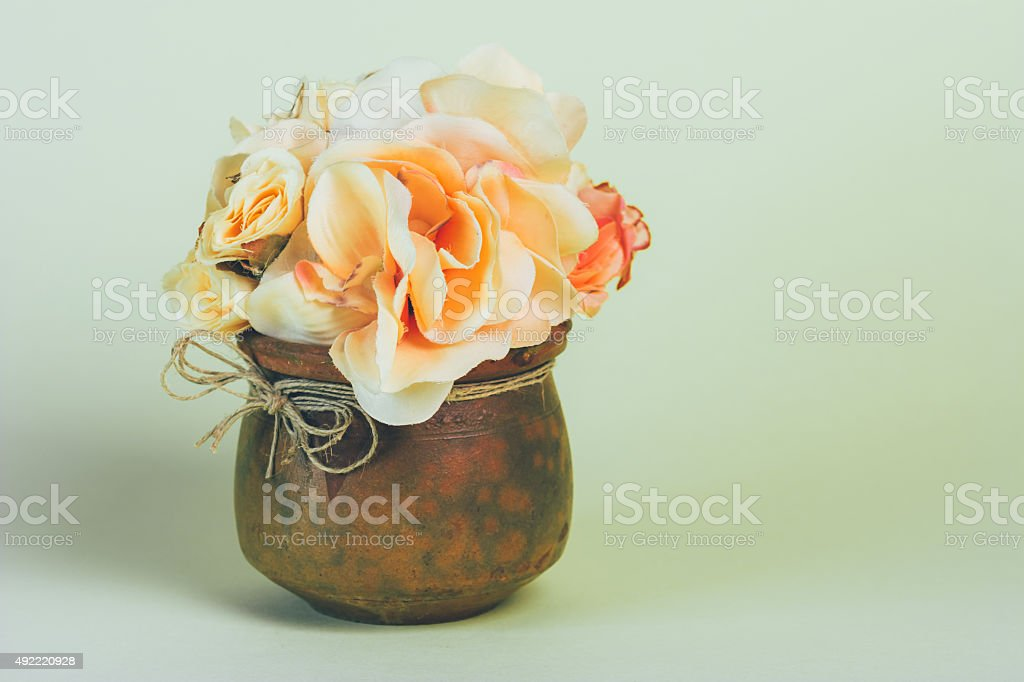 Flowers in a vase horizontal royalty-free stock photo