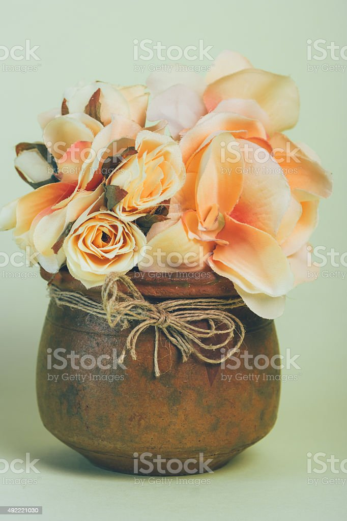 Flowers in a vase vertical royalty-free stock photo