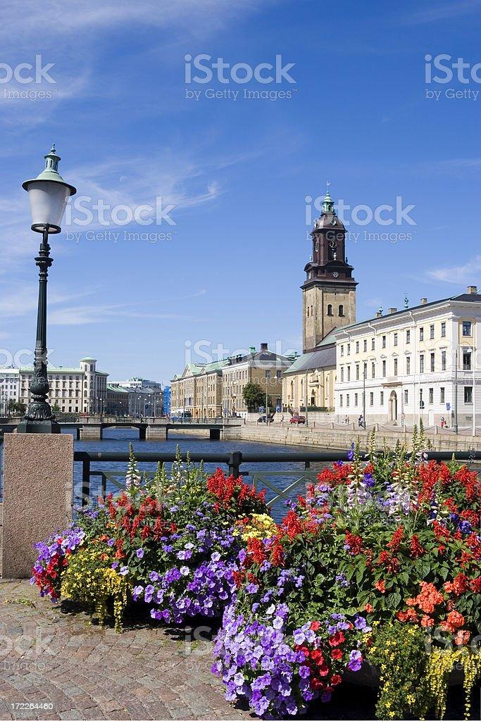 Flowers in lovely Gothenburg, Sweden stock photo