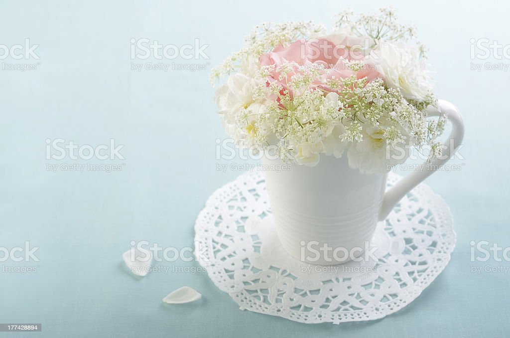 Flowers in mug royalty-free stock photo