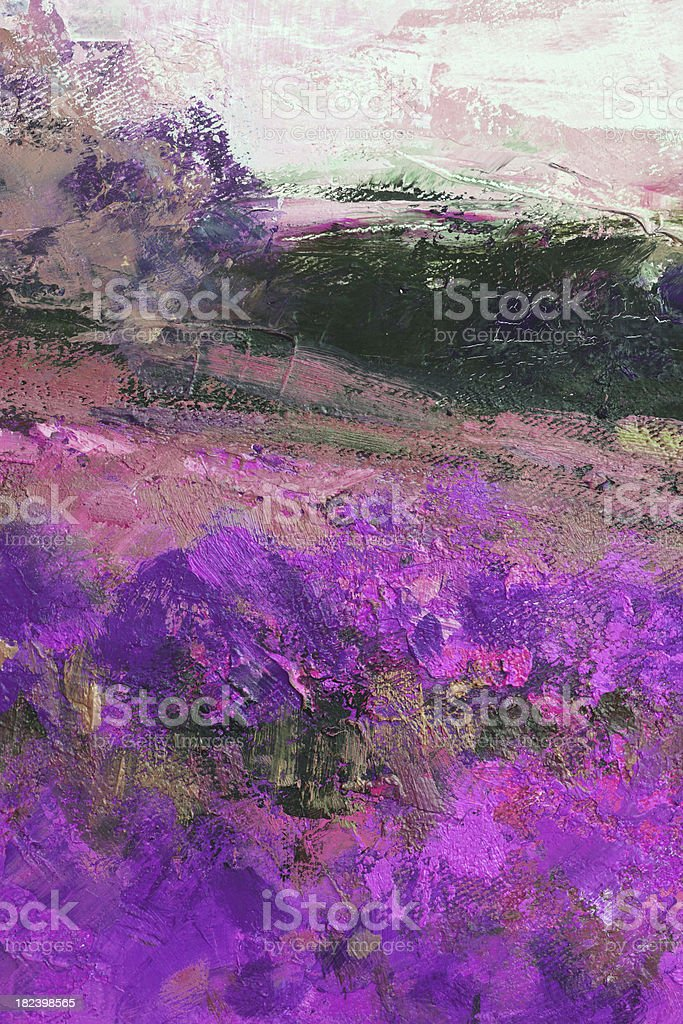 Flowers in Provence oil painting royalty-free stock photo