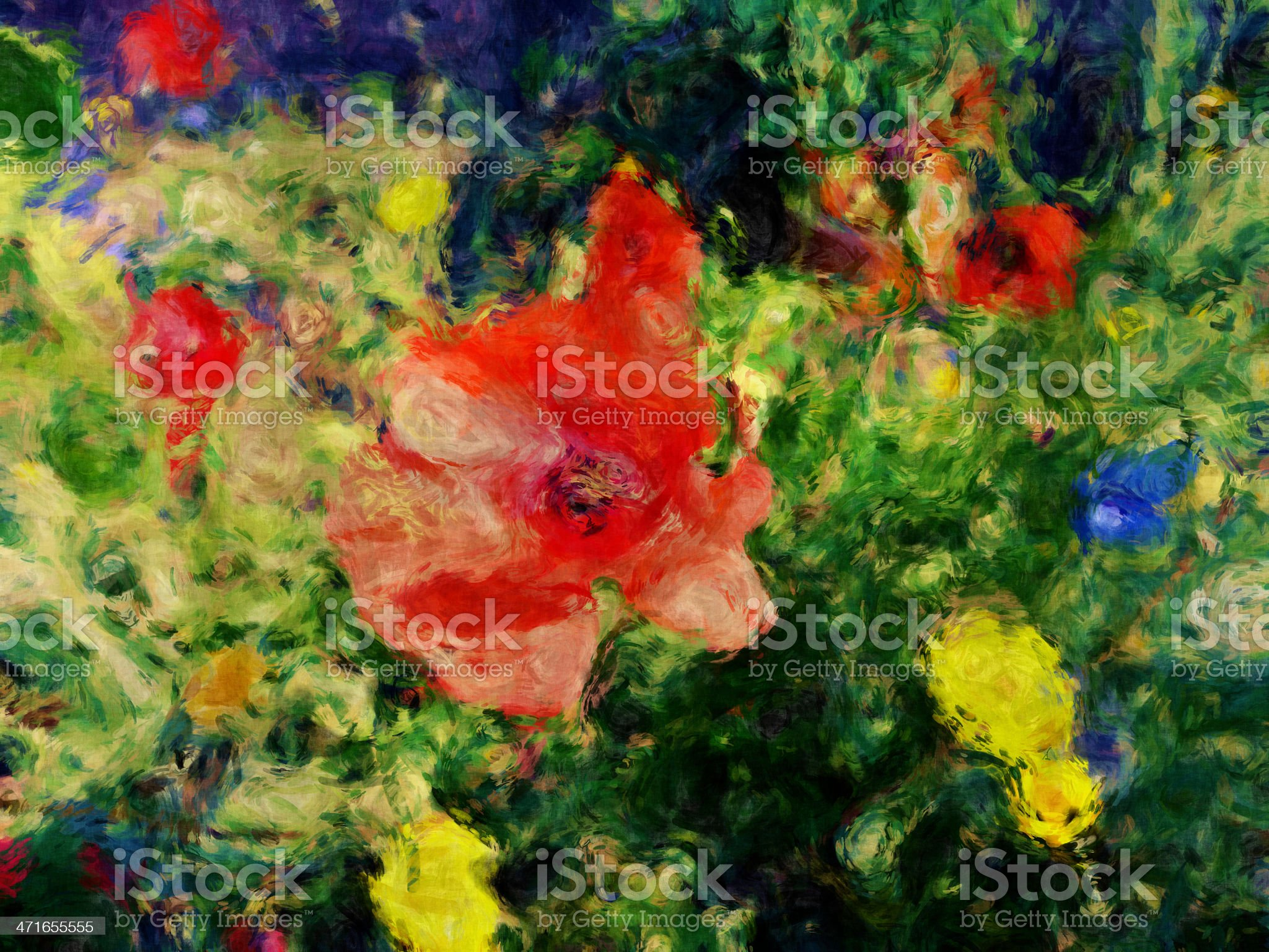 Flowers in the wild Garden royalty-free stock photo
