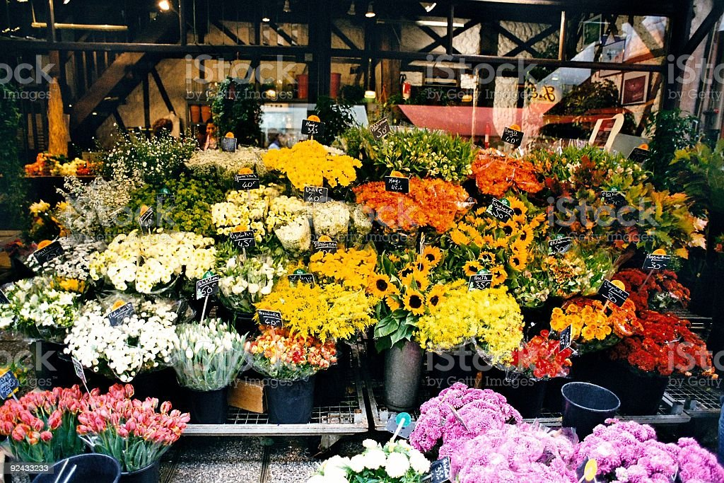 Flowers in Town stock photo