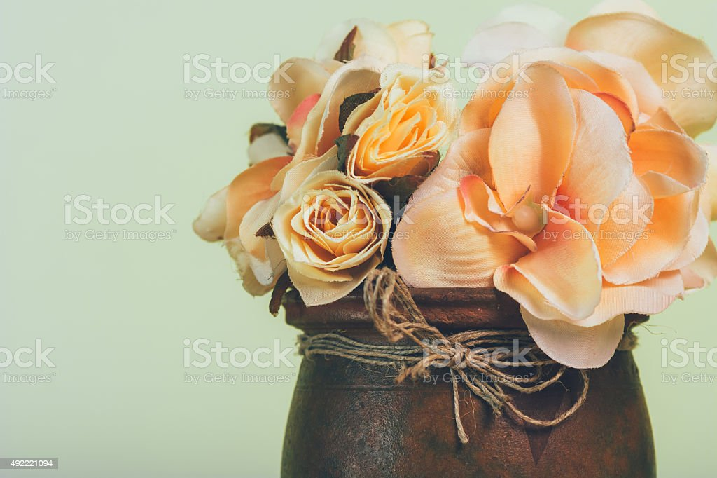 Flowers in vase close up royalty-free stock photo