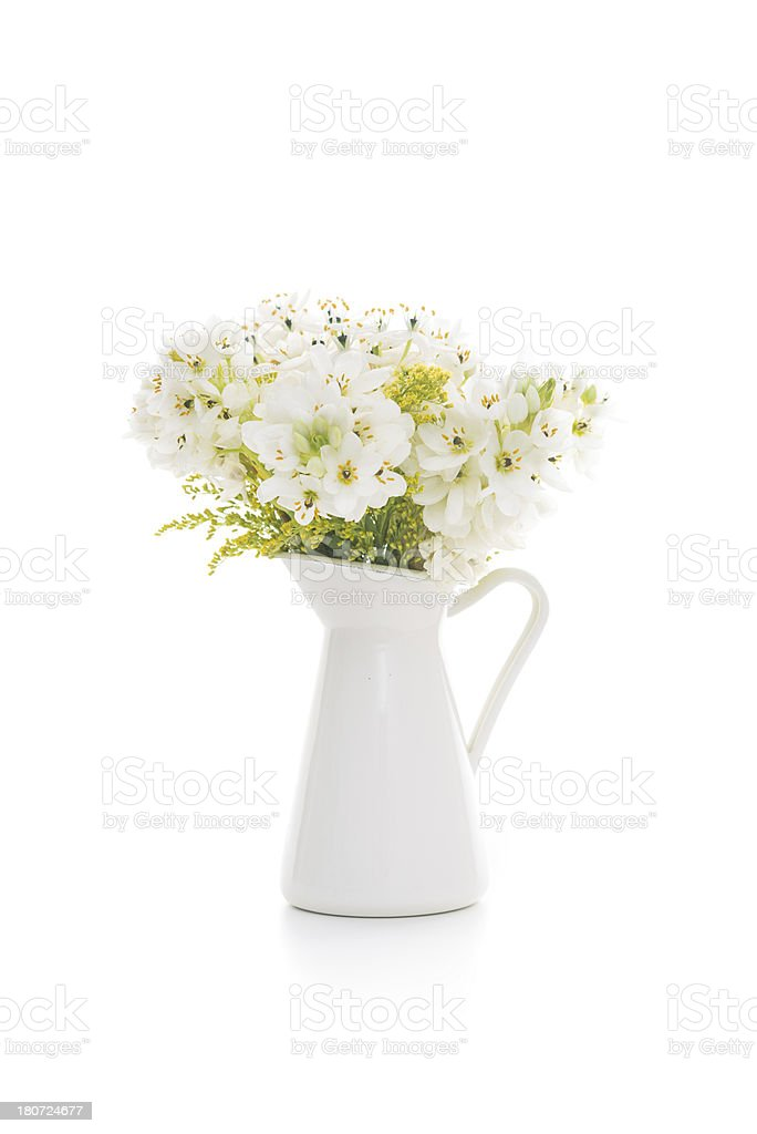 flowers in white vase royalty-free stock photo