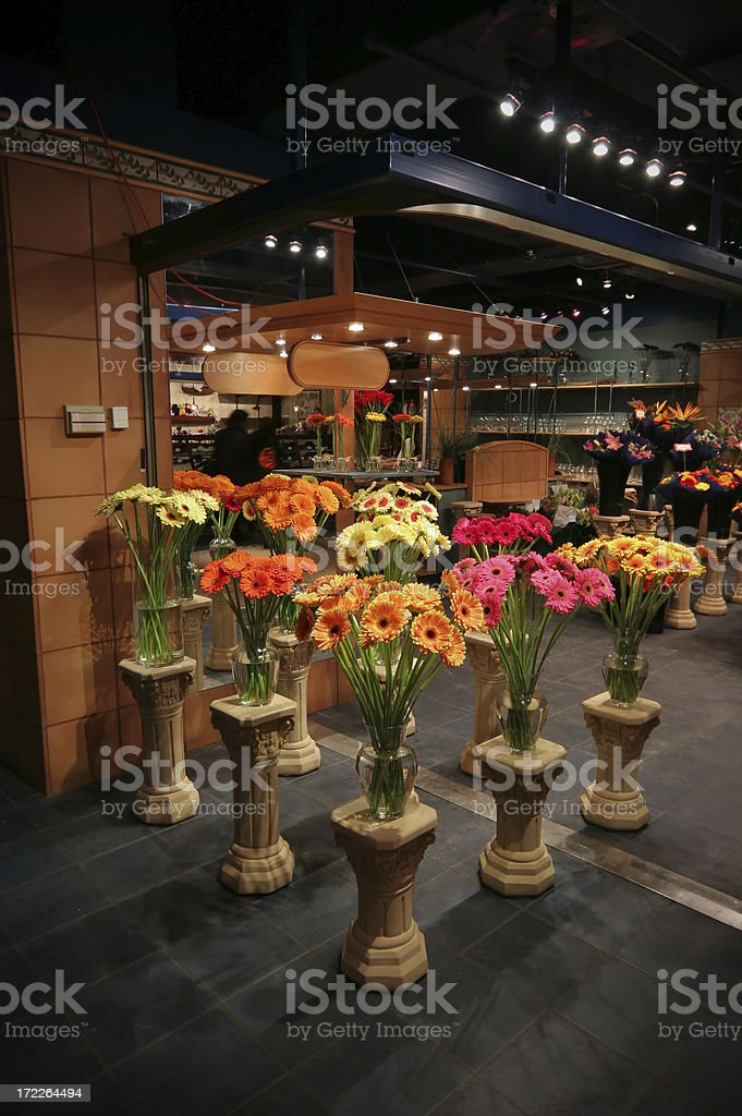 Flowers Inside a Merchant Store royalty-free stock photo