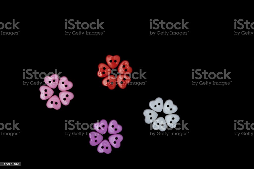 Flowers made from butons stock photo