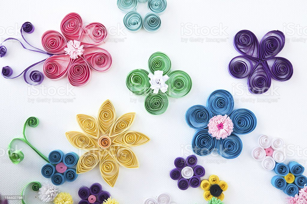 Flowers made of paper royalty-free stock photo